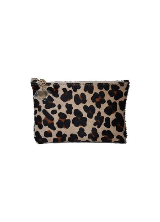 The Code Accessories  Leopard Print Small Zip Pouch