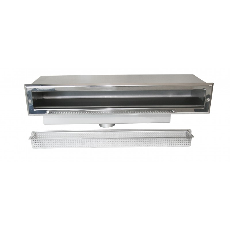 High Water Level Skimmer Stainless Steel 450mm - Surex Limited - Swimming Pool Water Treatment and Luxury Fittings for the Trade