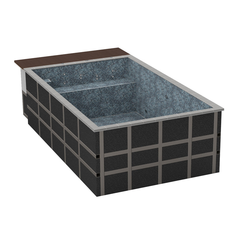 Mosaic Tiled One Piece Resistance Pool 5030