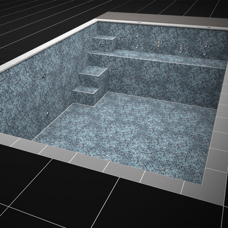 Mosaic Tiled One Piece Resistance Pool 10450