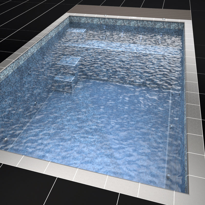 Mosaic Tiled One Piece Resistance Pool 6030