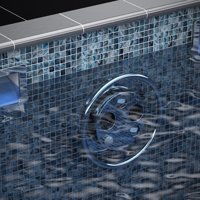 Mosaic Tiled One Piece Resistance Pool 8030