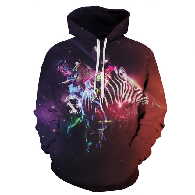 3D Galaxy Hoodies For Men Streetwear Men's Brand Clothing
