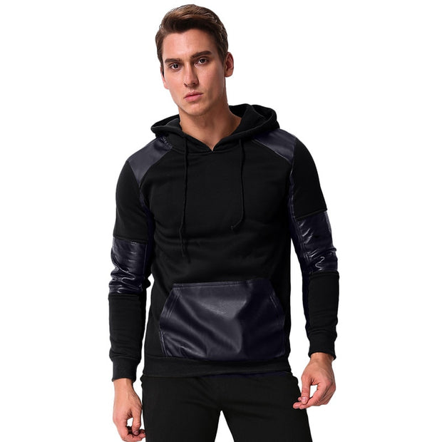 Leather Sweatshirt Pullovers Hoodies