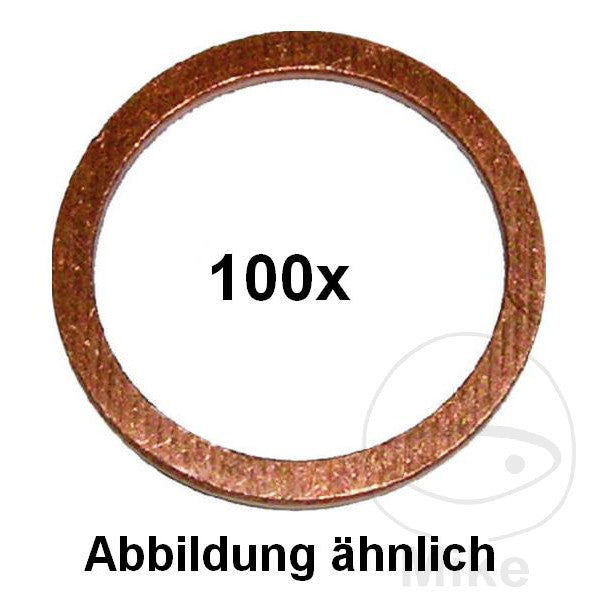 COPPER SEALING WASHER 10X16X1
