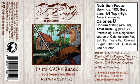 Pops Cajun Label