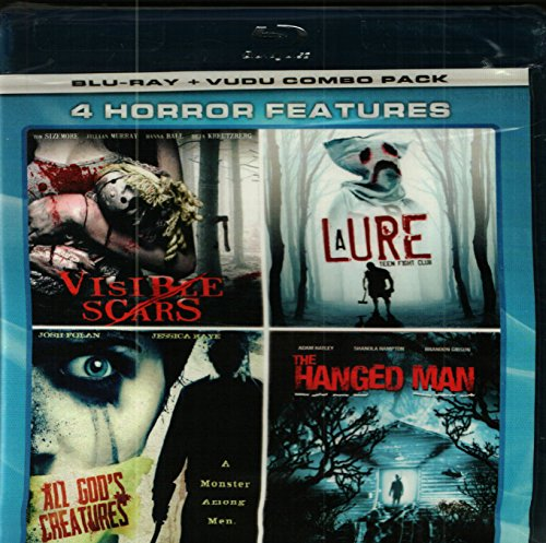 4 Horror Features: Visible Scars,A Lure,Teen Fight Club, All God's Creatures, The Hanged Man, Blu=ray disc