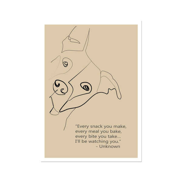 "Dog Poster ""Every meal"" Fine Art Print"