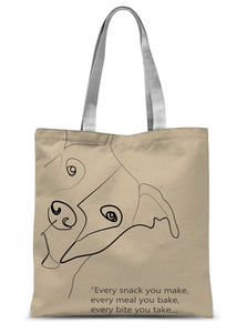 "Dog Poster ""Every meal"" Sublimation Tote Bag"
