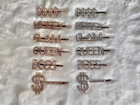 Bling Hair Clips