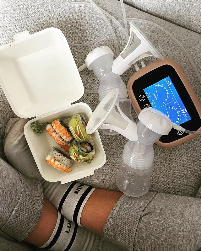 Expressing breast milk with electric breast pump by Milkbar New Zealand
