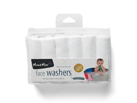 Face Washers White