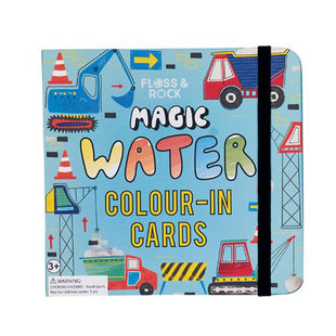 Construction Water Colour-In Cards
