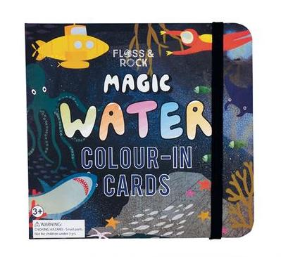 Floss & Rock Deep Sea Water Colour-In Cards