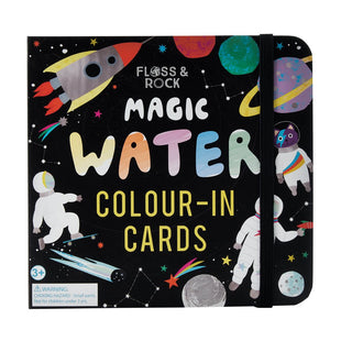 Space Water Colour-In Cards
