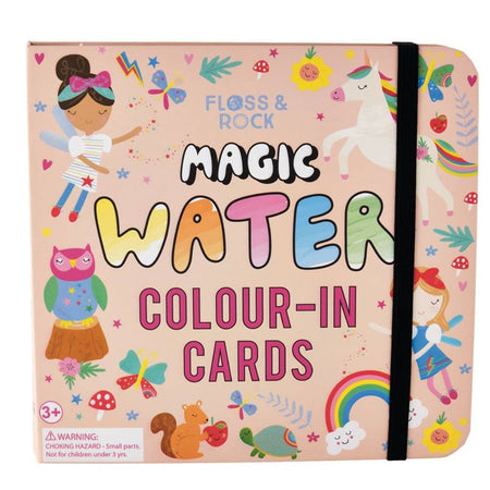 Rainbow Fairy Water Colour-In Cards by Floss & Rock