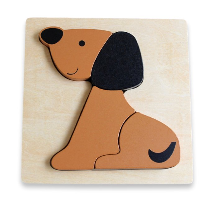Chunky Dog Puzzle available at Little Mash