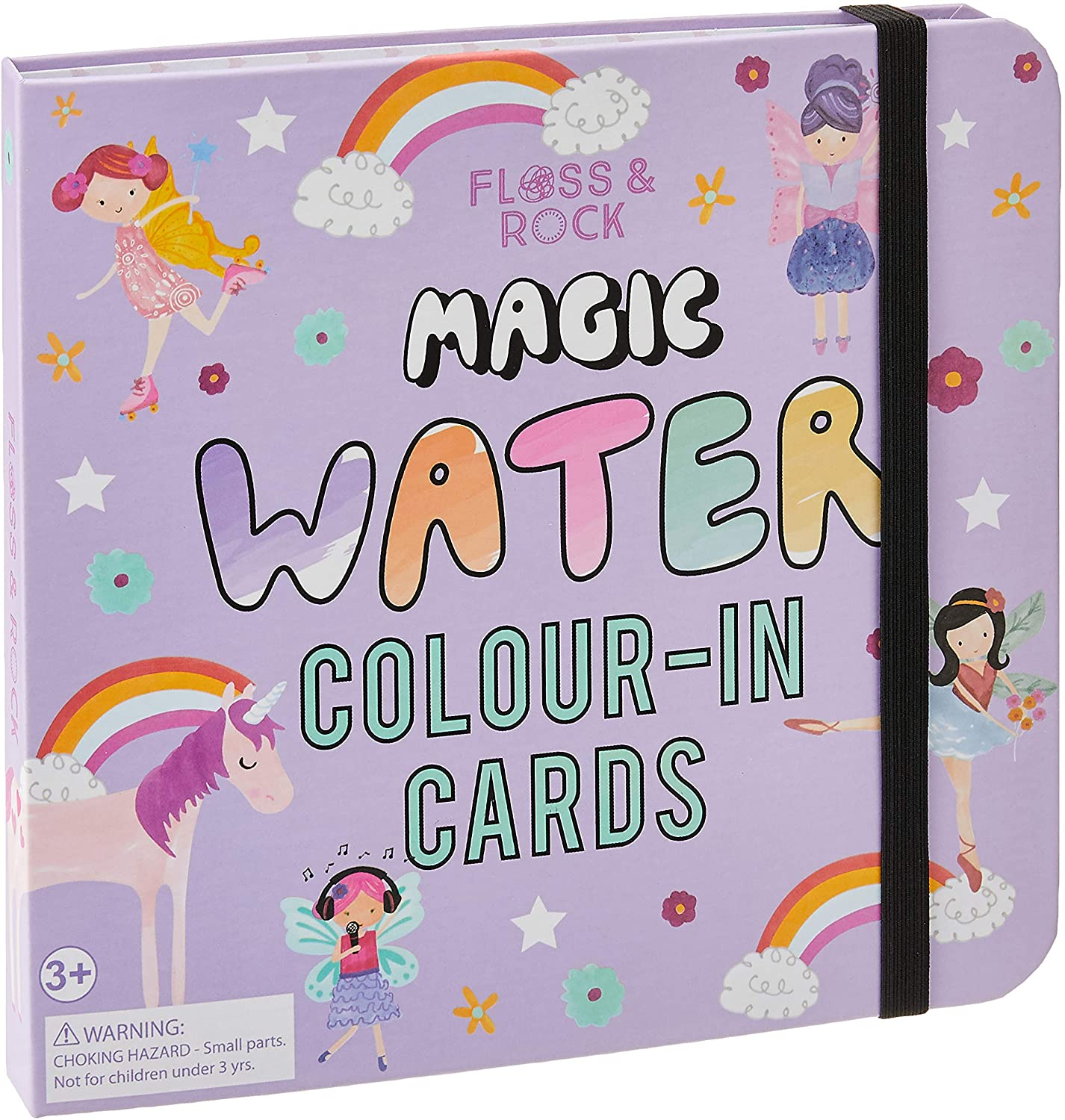 Fairy Unicorn Water Colour-In Cards by Floss & Rock