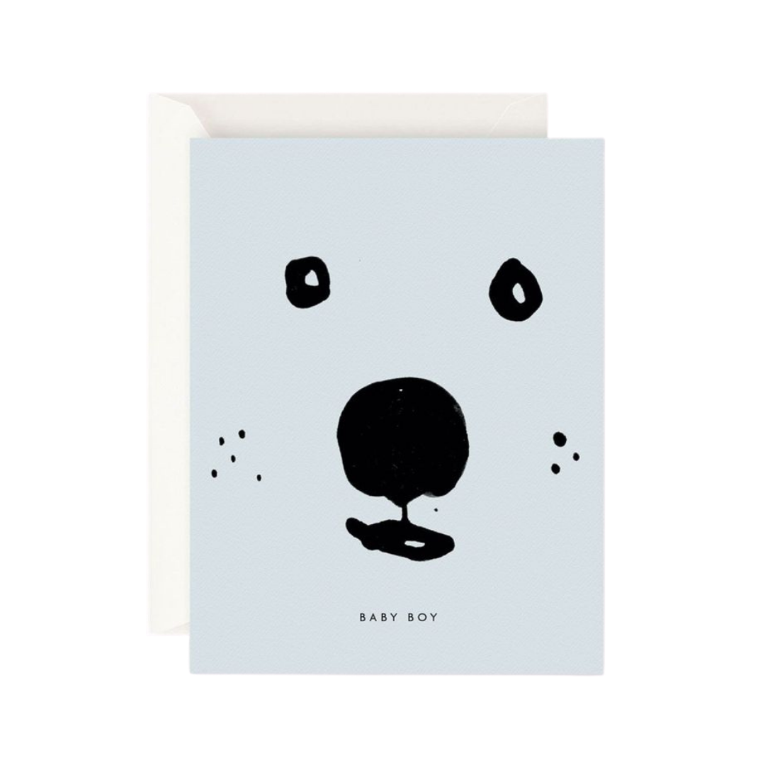 Baby Boy Bear Card by Father Rabbit