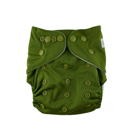 Olive Reusable Cloth Nappy by Bear & Moo