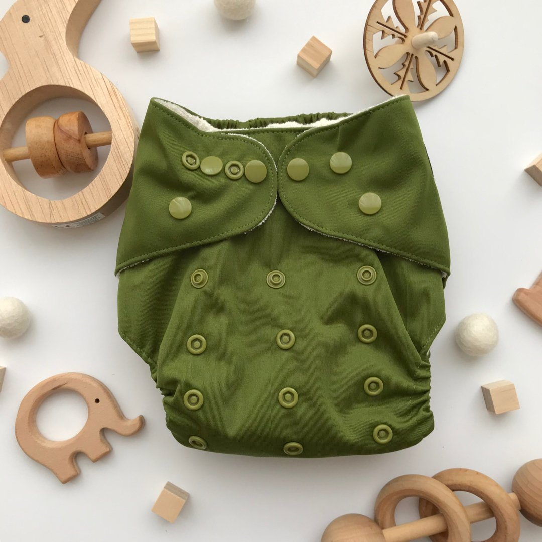Olive Reusable Cloth Nappy
