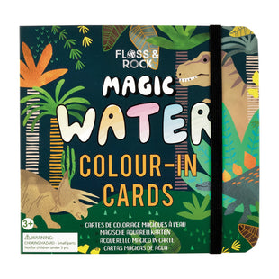 Dinosaur Water Colour-In Cards