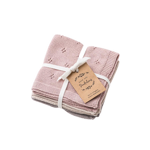 Organic Cotton Wash Cloth Set in Dusk