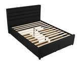 King 4 drawer bed - black