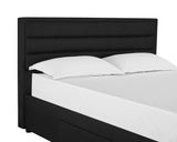 Queen 4 Drawer bed- Black