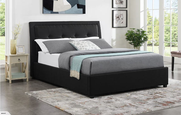 Double Gas lift bed - black