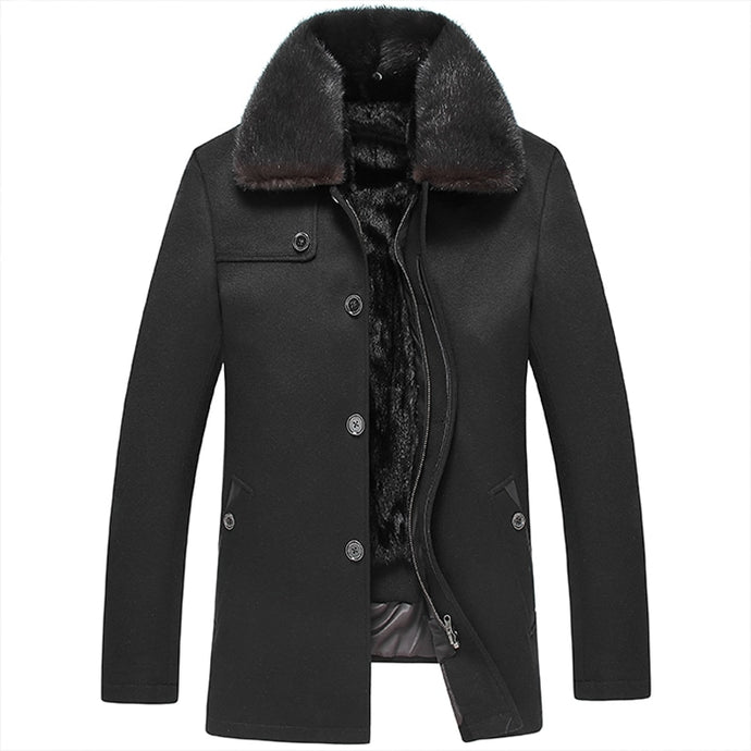 2017 New Mens Sheepskin Coat Winter Male Fur Coat Men's Leather Jacket cashmere Thicken Leather Fur Coat Manteau Fourrure Homme