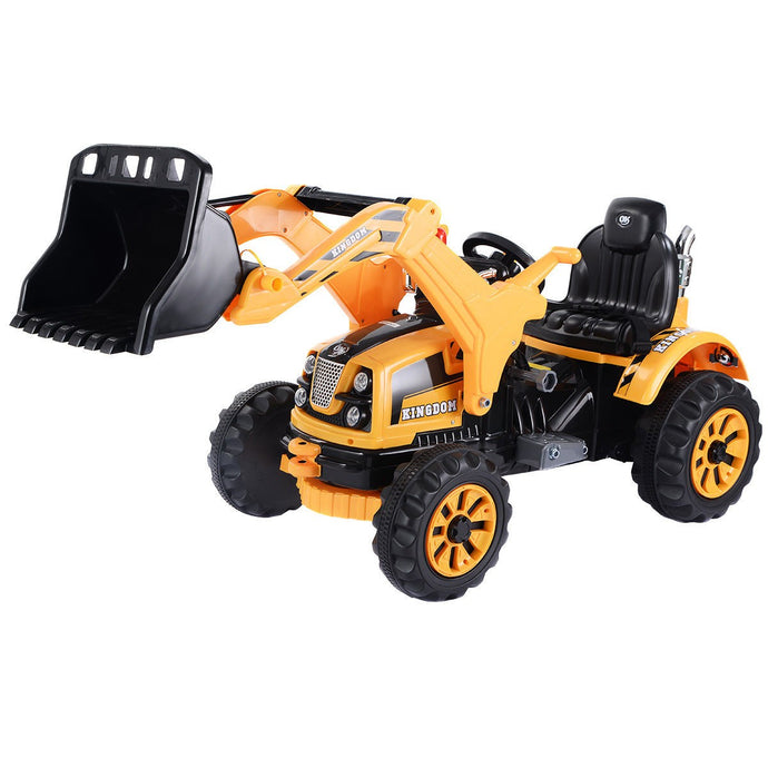 12 V Battery Powered Kids Ride on Dumper Truck with Front Loader Digger