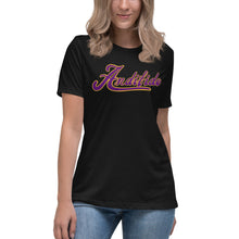 Load image into Gallery viewer, ANDIFIDO Purple Shaw Ladies Relaxed Tee - Andifido