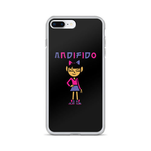ANDIGIRL Pink iPhone Case - Black - Andifido