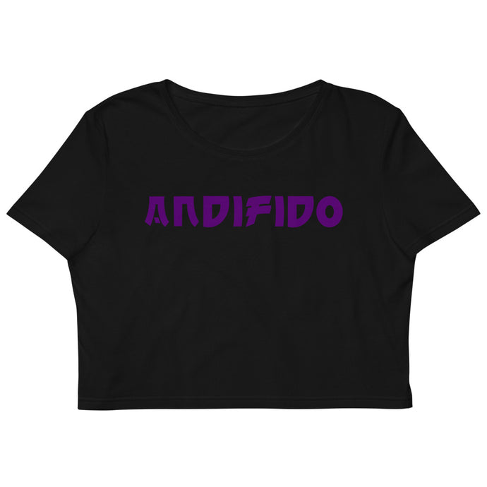ANDIFIDO Black Organic Crop Top/Purple - Andifido
