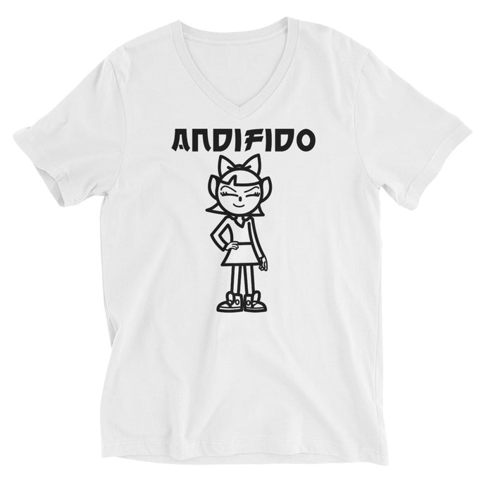 Classic Black ANDIGIRL V-Neck - Andifido