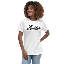 Load image into Gallery viewer, ANDIFIDO Black Shaw Ladies Relaxed Tee - Andifido