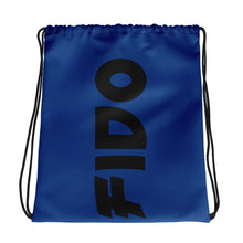 Load image into Gallery viewer, Blue ANDIFIDO Drawstring Bag - Andifido