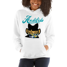 Load image into Gallery viewer, ANDIGIRL Teal Shaw Mask Hoodie - Andifido