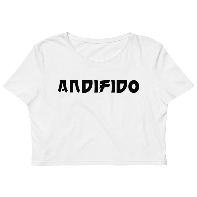 ANDIFIDO White Organic Crop Top/Blk - Andifido