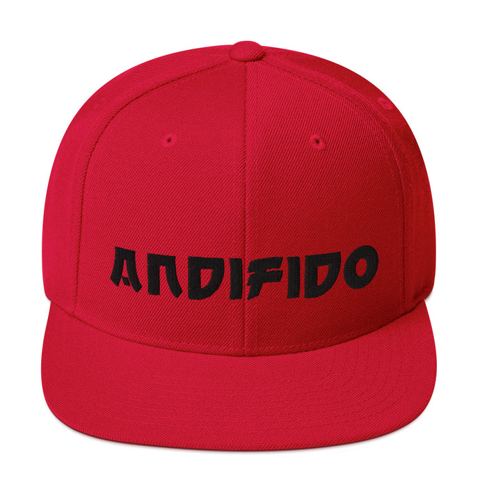 ANDIFIDO Red Snapback Hat - Andifido