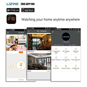 LIZVIE WiFi Network Hidden Spy Charging Dock Nanny Camera with Motion  Detection, Invisible Lens, Video Recorder for Home Security and  Surveillance(IOS