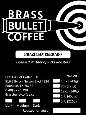 Brazilian Cerrado | Single-Origin | Brass Bullet Coffee