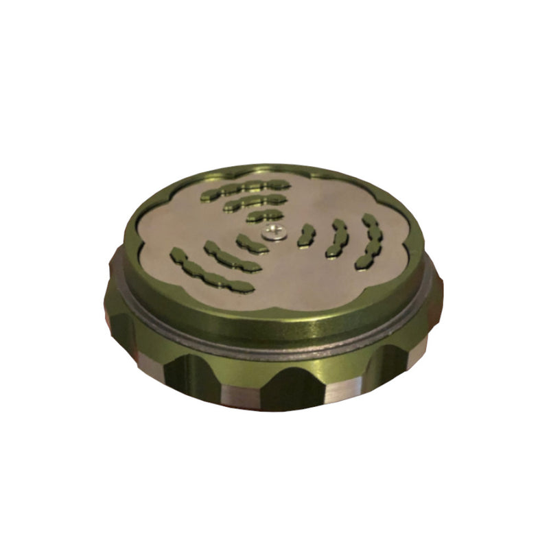 Green Two Part Metal Grinder - Inhale NZ - NZ's highest quality water pipes, smoking pipes, vape pens, e-liquids, herb vapes, grinders & more! We have the best prices in NZ! bongs nz, water pipes nz, bong nz, glass bongs nz, nz bongs, water pipe, water pipe nz, water bongs nz, bongs online nz