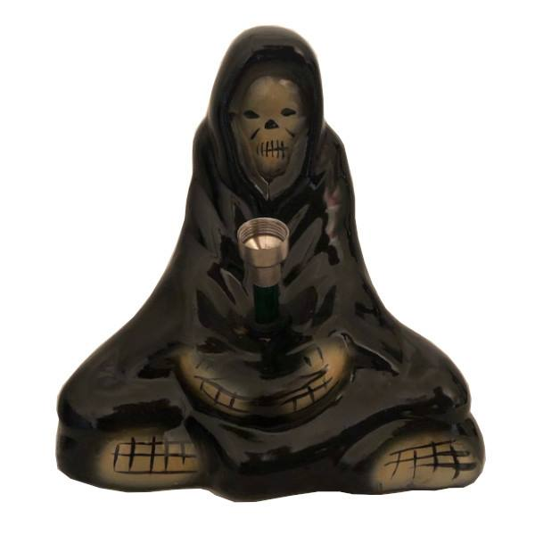 Ceramic Grim Reaper Water Pipe - 160mm - Inhale NZ - NZ's highest quality water pipes, smoking pipes, vape pens, e-liquids, herb vapes, grinders & more! We have the best prices in NZ! bongs nz, water pipes nz, bong nz, glass bongs nz, nz bongs, water pipe, water pipe nz, water bongs nz, bongs online nz