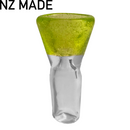 Hand Made Green Goo Cone Piece - 14mm - Inhale NZ - NZ's highest quality water pipes, smoking pipes, vape pens, e-liquids, herb vapes, grinders & more! We have the best prices in NZ! bongs nz, water pipes nz, bong nz, glass bongs nz, nz bongs, water pipe, water pipe nz, water bongs nz, bongs online nz