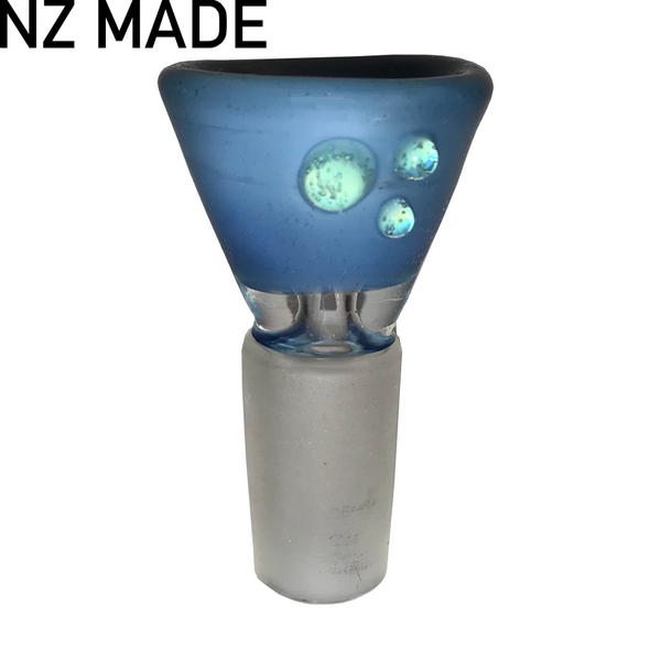 Hand Made Deep Blue Cone Piece - 14mm - Inhale NZ - NZ's highest quality water pipes, smoking pipes, vape pens, e-liquids, herb vapes, grinders & more! We have the best prices in NZ! bongs nz, water pipes nz, bong nz, glass bongs nz, nz bongs, water pipe, water pipe nz, water bongs nz, bongs online nz