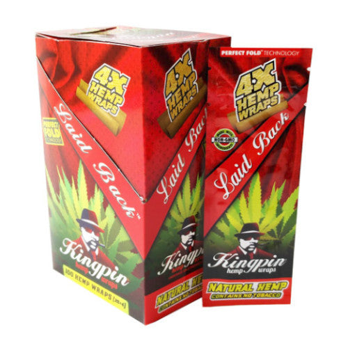 Kingpin Hemp Wraps - Laid Back - 4 Pack - Inhale NZ - NZ's highest quality water pipes, smoking pipes, vape pens, e-liquids, herb vapes, grinders & more! We have the best prices in NZ! bongs nz, water pipes nz, bong nz, glass bongs nz, nz bongs, water pipe, water pipe nz, water bongs nz, bongs online nz