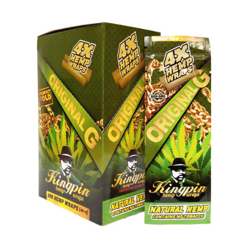 Kingpin Hemp Wrap - Original - 4 Pack - Inhale NZ - NZ's highest quality water pipes, smoking pipes, vape pens, e-liquids, herb vapes, grinders & more! We have the best prices in NZ! bongs nz, water pipes nz, bong nz, glass bongs nz, nz bongs, water pipe, water pipe nz, water bongs nz, bongs online nz