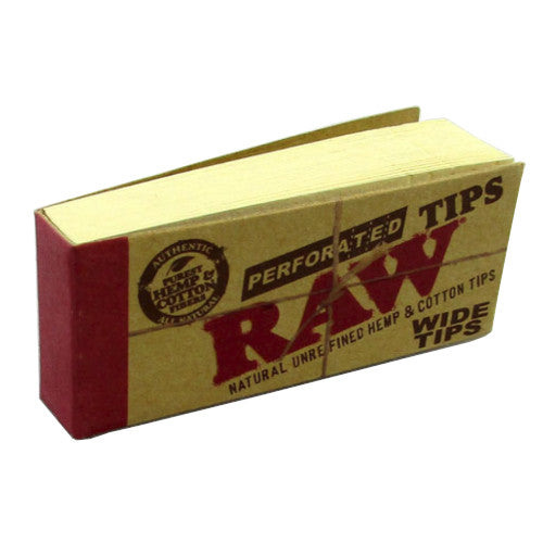 RAW Wide Perforated Tips - 50 Pack - Inhale NZ - NZ's highest quality water pipes, smoking pipes, vape pens, e-liquids, herb vapes, grinders & more! We have the best prices in NZ! bongs nz, water pipes nz, bong nz, glass bongs nz, nz bongs, water pipe, water pipe nz, water bongs nz, bongs online nz